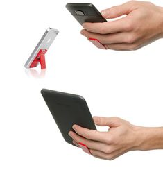 FLYGRIP gives any smartphone the ability to become even smarter.  Just adhere FLYGRIP to the back of your phone or   case and slip two fingers into the secure and comfortable grip.  You now have one completely free hand to multi-task with.