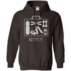 """""""Fitness Kit"""" Men's Long Sleeve Tees & Hoodies"""