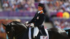 Anky van Grunsven of Netherlands riding Salinero competes in the Individual Dressage on Day 13 of the London 2012 Olympic Games at Greenwich Park