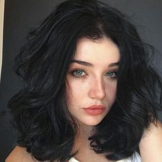 Bob Wavy Glueless Full Lace Remy Brazilian Hair Wigs for Black Women Frontal Cheap Lace Front Bob Wave Human Hair Wigs Hair Inspo, Hair Inspiration, Hair Color For Black Hair, Short Black Hair, Girls With Black Hair, Black Hair Green Eyes Girl, Black Hair Pale Skin, Thick Short Hair, Hair Colors For Blue Eyes