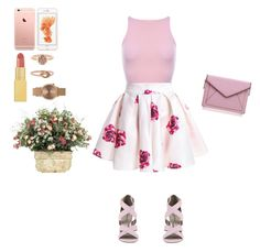 """rosey"" by pedromicaela ❤ liked on Polyvore featuring AERIN, Kendra Scott, Topshop, Michael Antonio and Rebecca Minkoff"