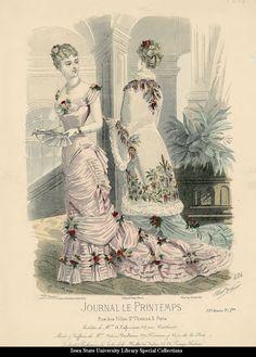 Evening dresses, France, 1880, Journal le Printemps
