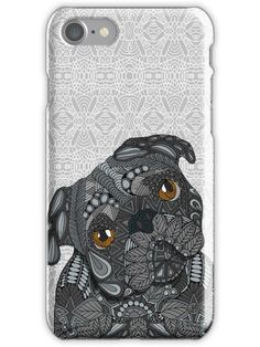 Black Pug 2016 Iphone Case by Artlovepassion - iPhone 11 Pro - Slim Case Iphone Hard Case, Slim Iphone Case, Iphone Case Covers, Iphone 11, Casetify Iphone 7 Plus, Black Pug, Protective Cases, Pugs, Canvas Prints