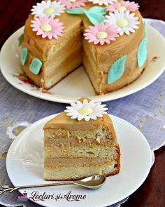 """Pentru suntem deja in weekend si pentru ca e sarbatoare, va invit la o feliuta de tort cu crema de mascarpone si caramel. Alături de un """"La multi ani!"""" celor ce isi sărbătoresc azi ziua numelui. ___***___ Reteta o găsiți pe blog. Link in bio. ___***___ Voi ce pregătiți bun dulce in weekendul acesta? . . . . #lecturisiarome #beautifulcuisines #f52grams ##inmykitchen #onmytable #cakesofinstagam #vzcomade #cakes #foodblogger #foodpic #foodphoto #foodfotography #lecker Creme Caramel, Vanilla Cake, Food And Drink, Sweets, Smoothie, Desserts, Rain Painting, Recipes, Cakes"""