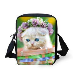 Brand Designers Women Messenger Bags Cute Animal Denim Pet Cat Dog Crossbody Bag Casual Small Travel Shoulder Bags