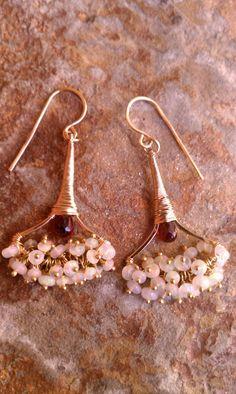 Art Deco Fan Earrings // Geraldine Earrings // by MistyEvansDesign
