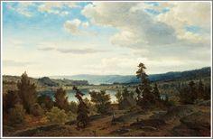 Axel Nordgren (1828-1888), Paysage avec Lac - 1858.