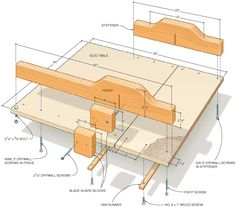 Woodworking Jigs Plans for a well-designed basic crosscutting sled for a table saw. Woodworking Table Saw, Woodworking Jigs, Woodworking Projects, Intarsia Woodworking, Woodworking Machinery, Woodworking Workshop, Table Saw Crosscut Sled, Tablesaw Sled, Cross Cut Sled