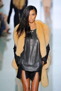 Fall Inspiration #leather #fur #fashion