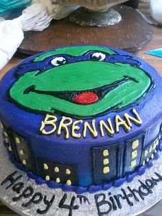 TMNT cake  By Angie Burger