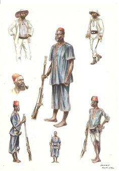 Force publique Bangalas soldats/officiers