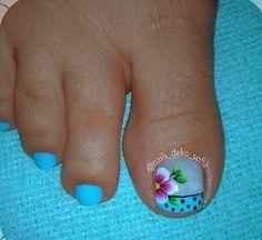 Cute Pedicures, Great Hair, Nails, Makeup, Fairy, Work Nails, Polish Nails, Cubism Art, Tropical Nail Designs