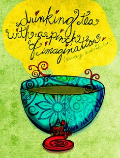 """Sunday was a day imagination, relaxed creativiTEA, inspired by tealightful words from 50 Ways to Drink Tea. """"Drinking tea with a pinch of imagination."""" This was my Sunday. Cheers from What my #Tea says to me January 20th :)"""