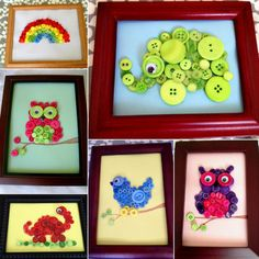 DIY #Button Animals / varios animales con botones