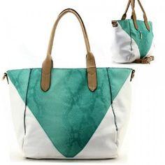 Animal Print Color Block Purse and Bag / Handbag / Green [ No Longer Available ]