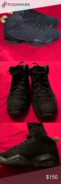 8778586c803 Jordan's Men's size nine Jordan's. They are black and gold with gold  glitter on bottom