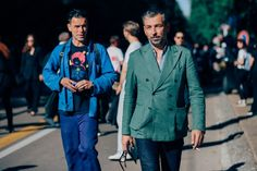 The guys making their way through the Italian city right now looking, well, just damn good.