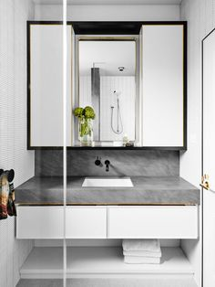 East Melbourne residence bathroom, interior by David Flack of Flack Studio