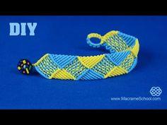 Colorful Rainbow Bracelet Tutorial   Macrame School - YouTube