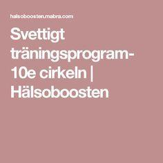 Svettigt träningsprogram- 10e cirkeln | Hälsoboosten