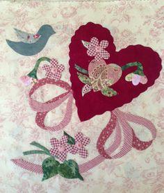 Vintage Valentine block by Janet
