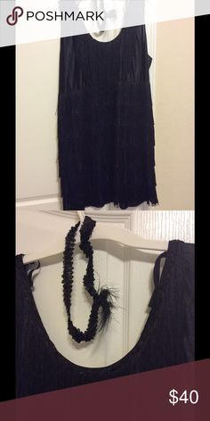 """Plus size flapper costume Worn once to a costume party.  Comes with the headpiece.  Tag states size """"adult plus 3X"""" but I think it feels more like 2X. Dresses Maxi"""