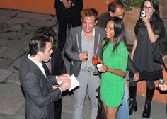Zachary Quinto and Zoe Saldana who are in the new movie Star Trek seen partying at a club in Mexico City for Cach's b'day.