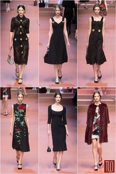 "c93303f71b5f Dolce Gabbana Fall 2015 ""Viva la Mamma"" Collection"