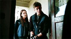 """""""If there are zombies in here I'll kill you before they do."""" """"Oh, thanks so much. I'd hate to go home to have Hannah greet me with a bullet than a kiss."""" {o.c.}"""