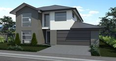 Classic open-plan living is the theme of this impressive two-storey home. The kitchen/living/dining area is complemented by the ample laundry, entranc. Victoria House, Storey Homes, Open Plan Living, Kitchen Living, Dining Area, House Plans, Garage Doors, Shed, Outdoor Structures