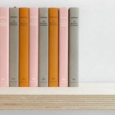 Pink, gray, marigold.