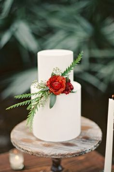 Woodsy Winter Dinner Party from Melanie Gabrielle Photography. Beautiful Wedding Cakes, Gorgeous Cakes, Pretty Cakes, Cupcakes, Cupcake Cakes, Bolo Diy, Bolo Cake, Gateaux Cake, Rustic Cake
