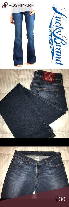 Lucky Brand Midrise Flare Jeans Lucky Brand Midrise Flare Jeans Size 30 Distressed Denim Lucky Brand Jeans Flare & Wide Leg