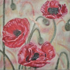 Original  Oil Painting''POPPIES'' Abstract Painting by ARTNATALY, $150.00