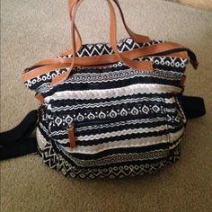 Aztec print black and brown weekend tote Aztec print black and brown weekend tote from Target. Bags Travel Bags