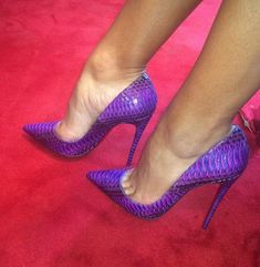 8a49db95508bf3 Details about Womens High Heel Pointy Toe Purple Party Roma Club Stilettos  Pumps Shoes 5-10
