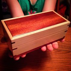 Thank you so much Amy it's absolutely beautiful and I found the perfect little hands to display it. I really hope we get a… Wooden Box Plans, Small Wooden Boxes, Wooden Jewelry Boxes, Woodworking Jobs, Cool Woodworking Projects, Trunks And Chests, Jewelry Chest, Thank You So Much, Box Design
