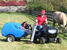 Paddock Vac - The ultimate pooper scooper - I want that Horse Stalls, Horse Barns, Horse Paddock, Horse Manure, Horse Shelter, Horse Barn Plans, Horse Property, Horse Ranch, Dream Barn