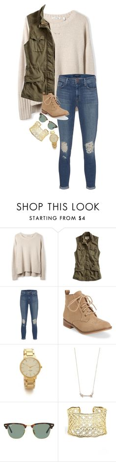 """""""i love fall!!"""" by caroline-barker ❤ liked on Polyvore featuring Lucky Brand, J Brand, Aéropostale, Kate Spade, Forever 21, Ray-Ban and Kendra Scott"""