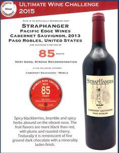 #winelover 85 Rating for Straphanger Cabernet Sauvignon: Ultimate Wine Challenge. http://goo.gl/iKtYGG