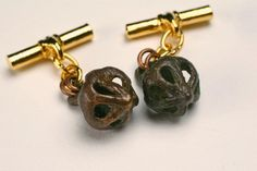 : Perfume Buttons made into cuff links
