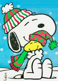 Snoopy and Woodstock Peanuts Christmas, Christmas Rock, Charlie Brown Christmas, Charlie Brown And Snoopy, Christmas Holidays, Merry Christmas, Peanuts Cartoon, Peanuts Snoopy, Peanut Pictures
