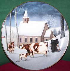 Franklin Mint Winter Milking Lowell Herrero by MoonbearConnections