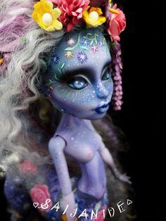 custom monster high doll repaint ooak centaur fantasy by Saijanide