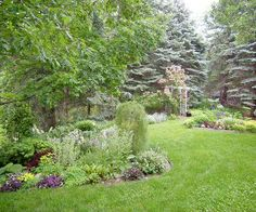 Gardener Jane Horn has been busy creating a garden paradise in her suburban Minnesota garden for the last 12 years. The garden lives large, even though her lot is only two-thirds of an acre. Rock Garden Plants, Shade Garden, House Plants, Landscaping Plants, Front Yard Landscaping, Landscaping Ideas, Hillside Landscaping, Outdoor Landscaping, Shade Plants
