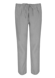 69ce4f7baf 120% LINO NEW DRAWSTRING TROUSERS SOFT GREY Men And Women