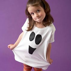 Easy Painted Ghost Shirt for Halloween Get dressed up for Halloween festivities with a fun and easy-to-make ghost shirt.