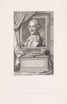 Reinier Vinkeles   Portret van George Washington, Reinier Vinkeles, 1786 - 1809   Portret van George Washington, opperbevelhebber van de koloniën in de Amerikaanse Onafhankelijkheidsoorlog en de eerste president van de Verenigde Staten.