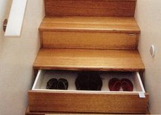 Stair case AND shoe storage, i know some people who would need atleast a 4 storey home!