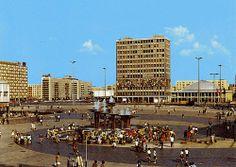 DDR - alexander platz mit kongreßhalle- east berlin